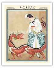 Vogue Magazine - February 1923 - Chinese Dragon Vintage Magazine Cover Art Print