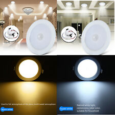 10X 5W 7W LED Panel Light PIR Motion Sensor Downlight Super Bright Round Ceiling