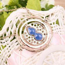 Cool Fashion Magic Time Turner Necklace Rotating Spins Hourglass Necklace AL