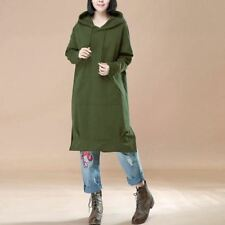 Women Black Green And Blue Color Long Sleeve Plus Size Loose Dress R95