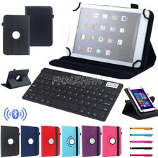 "For RCA 7"" 10.1"" Tablet Bluetooth Keyboard Universal Rotating PU Leather Case"