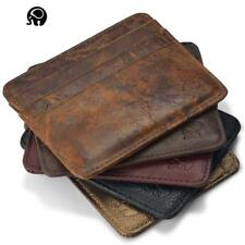 New Credit Card ID Holder Genuine Leather Mini Slim Wallet Business Holders