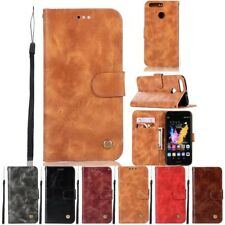 Leather Card Pocket Flip Stand Wallet Cover Case For Huawei Ascend P8 P9 P10
