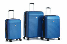 Delsey Luggage Panorama 3 Piece Expandable Spinner Trolley Luggage Set