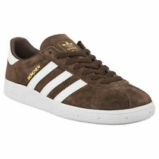 Adidas Munchen Brown Footwear White Mens Suede Low-top Sneakers Trainers New