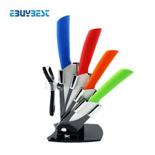 Kitchen Cooking Knife Peeler 4 Color With Holder Home Accessories Ceramic Knives