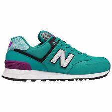 New Balance 574 Art School Aqua Womens Mesh Lace-up Low-top Sneakers Trainers