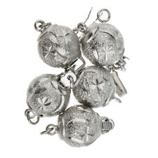 5pcs Tibetan Silver Ball Beads Charms Necklace Clasp DIY Jewellery Findings