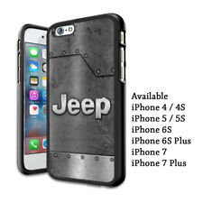 Jeep Silver Steel Logo Design Plastic Hard Case For iPhone 5s 6 6s 7 8 X (Plus)