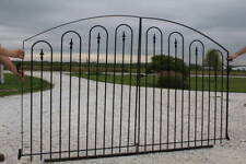 Center Divide Gate 8'w x 4't Wrought Iron All Hoop Entry Gate