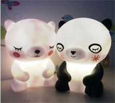 Bear Led Night Light Baby Kids Nursery Child Room Decor Cute Lamp Dry Battery