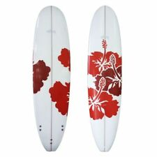 Sunride Surfboard Mal Red Hibiscus Beginners to Advanced Fun includes FCS fins