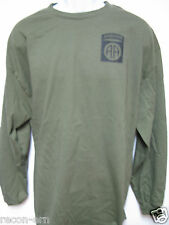 82nd AIRBORNE long sleeve T-SHIRT/ FRONT PRINT ONLY / MILITARY / ARMY / NEW