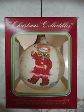 Christmas Collectible Xmas Tree Ball Ornament European Hand Blown Glass NIB