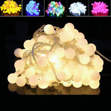 10M100 LED Fairy String Lights Christmas Round Ball Blubs Wedding Party Lamp