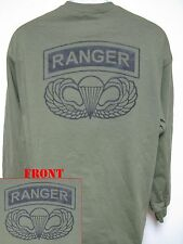 AIRBORNE RANGER LONG SLEEVE T-SHIRT/ ARMY/ MILITARY/ NEW