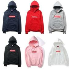 New Mens Supre-me Hip Hop Hoodie Embroidered Cotton Sweater Men's Hoodies Sweats