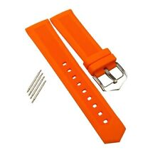 New Silicone Watch Strap Stainless Steel Deployment Buckle Waterproof 16mm-22mm