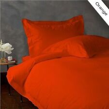 800TC EGYPTIAN COTTON BEDDING COLL. SHEET SET+DUVET COVER+BED SKIRT ORANGE