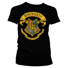 Officially Licensed Harry Potter- Hogwarts Crest Women's T-Shirt S-XXL Sizes
