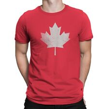 Nyc Factory Canada Flag Tee Mens Tee Maple Leaf T-Shirt Retro Red Nyc Factory