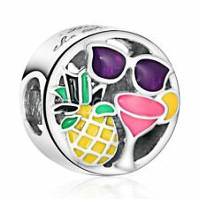 authentic Sterling Silver Fun Charms Mixed Enamel Happy European charm Bead