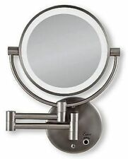 Zadro Dual LED Lighted Wall Mount Mirror 1X and 10X Magnification