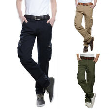 New Mens Military Army Cargo Combat Work Pocket Pants Tactical Trousers Overalls