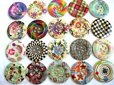 5 large wooden - buttons,different Patterns,approx. 50 mm,Patterns selectable