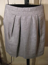 WOMANS SILVER TWINKLE METALLIC LINEN SKIRT TALBOTS PLUS 14W 18W 22W 24W $134