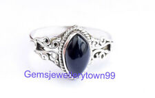 925 STERLING SILVER BLACK ONYX RING STONE GEMSTONE RING ANY SIZE R9BO