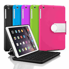 Swivel Rotary Stand Case Cover with Bluetooth Keyboard For Apple iPad Mini 1 2 3