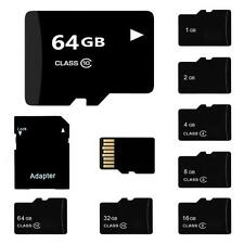Lot TF SD Card 32/16/8/4/2GB TF Flash Memory Card With Adapter Class 4-10 New