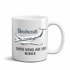 Beechcraft Super King Air 350 Airplane Ceramic Mug - Personalized w/ N#