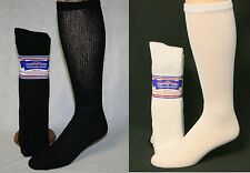 3, 6 or 12 Pair Men's Women's Diabetic Cushioned Over The Calf Socks Sz 9-15