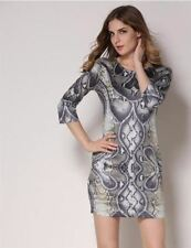 Women Fashion Vintage Printed Pinup Casual Party Bodycon Dress PN670