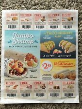(10) Del Taco Food and Drink Coupons Exp. 3/25/2018