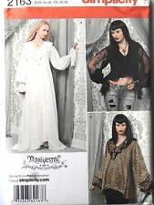 SIMPLICITY PATTERN 2163 Gothic Arkivestry Bride of Dracula Tops Dress Night Gown