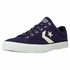 Converse Star Player Ox Midnight Indigo Egret Mens Suede Low Top Trainers