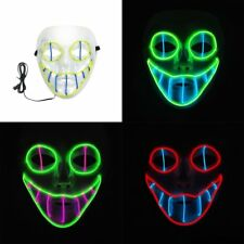 EL Luminous Mask Cold Light Cosplay Mask Halloween Party LED Mask For Dance HT