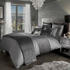 Kylie Minogue Saturn Velvet Silver Grey Duvet Bedding Cover,Runner,Cushion