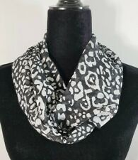 Infinity scarf, black and white theme, striped or floral or dog,chiffon,handmade