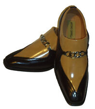 Antonio Cerrelli 6710 Mens Dark Brown Tan Spectator Style Dress Loafers Shoes