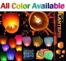 50PCS Chinese Paper Sky Flying Lanterns Fire Light Wishing Lamp Wedding KongMing