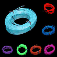 2m Flexible EL Wire Tube Rope Neon Light Glow Controller Car Party Decor