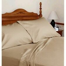 UK Home Collection- All UK Sizes 100% Egyptian Cotton 1000 TC Taupe Stripe