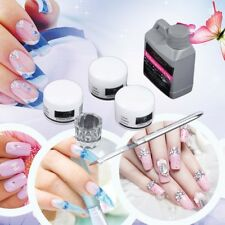 Chic Portable Nail Art Tool Kit Set Crystal Powder Acrylic Liquid Dappen Dish NL