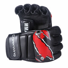 MMA Boxing Gloves UFC Sparring Grappling Fight Punch Mitts PU Leather 12oz XL