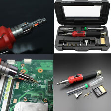 10 in 1 HS-1115K Electronic Ignition Gas Soldering Iron Kit Solder Welding BAWRA