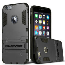 Shockproof Rugged Hybrid Armor Case Cover With Stand / Tempered Glass For iPhone